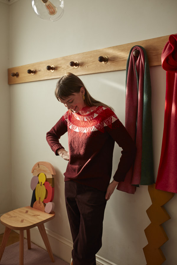 Donna Wilson AW20 - Mountain Peak Sweater - Red