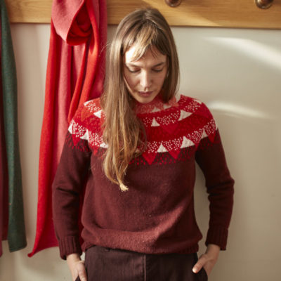 Donna Wilson AW20 - Mountain Peak Sweater - Red