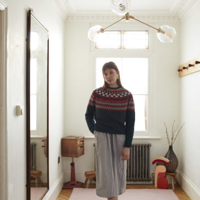 Sunburst Yoke Sweater - Slate by Donna Wilson