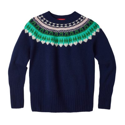 Helga Yoke Sweater - Navy - Donna Wilson