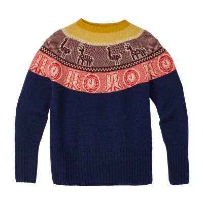 Frida Yoke Sweater - Navy - Donna Wilson