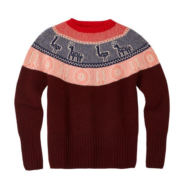 Frida Yoke Sweater - Burgundy - Donna Wilson