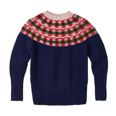 Isla Yoke Sweater - Navy - Donna Wilson