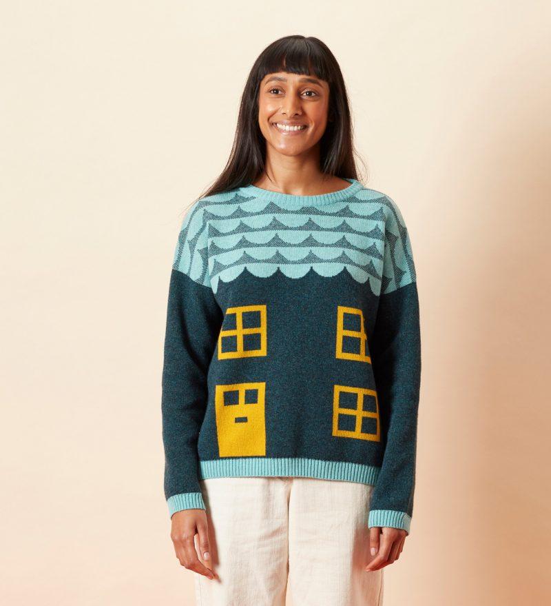 Bothy Sweater - Blue - Donna Wilson