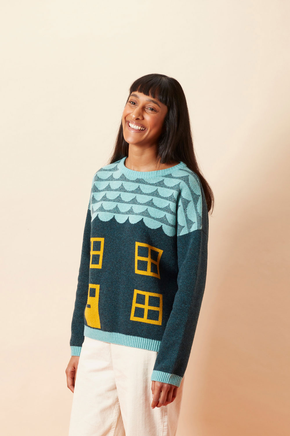 Bothy Sweater - Blue - Donna Wilson