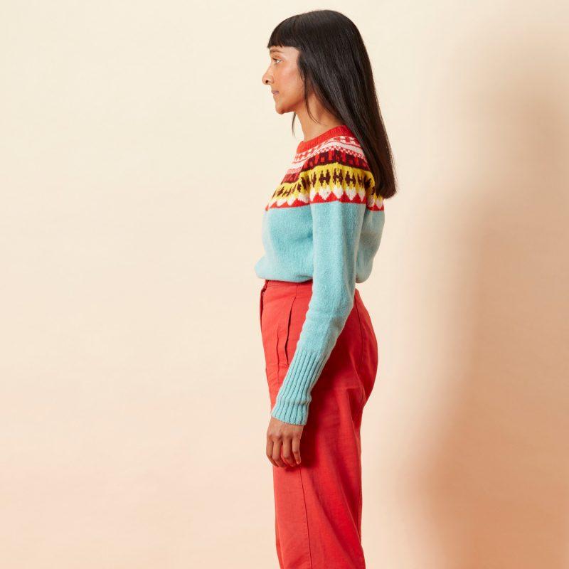 Helga Yoke Sweater - Sky - Donna Wilson
