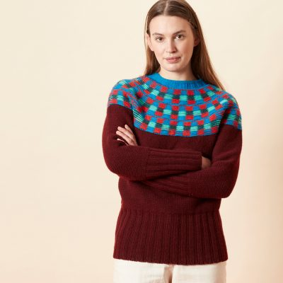 Isla Yoke Sweater - Burgundy - Donna Wilson