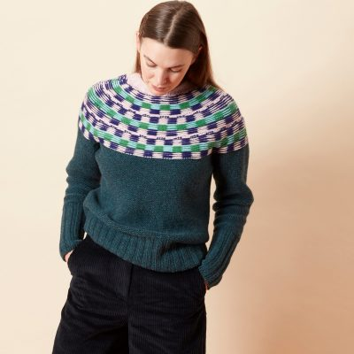 Isla Yoke Sweater - Dark Green - Donna Wilson