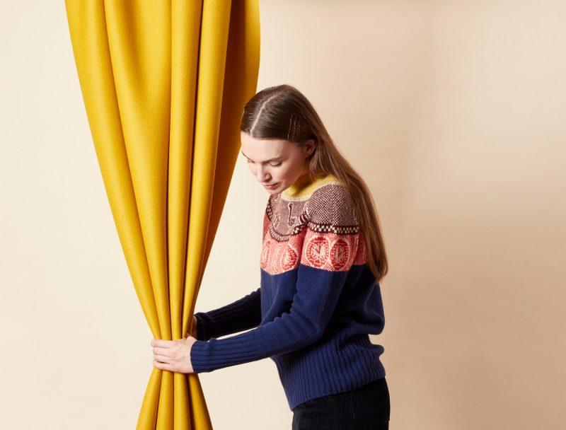 Frida Yoke Sweater - Navy - Donna Wilson