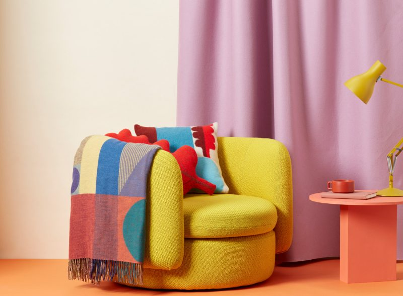 Carnival Woven Throw and Koyo Cushion - Donna Wilson