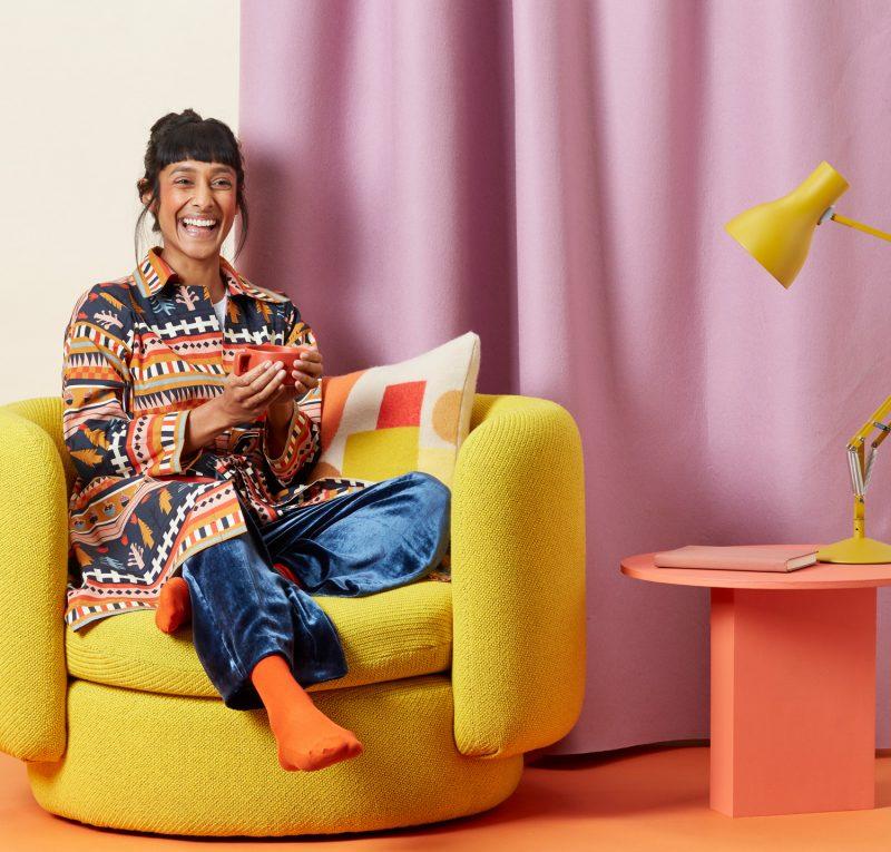 Donna Wilson - Salma Wrap and Hue Cushion - Harvest