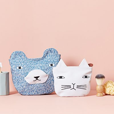 Bear Wash Bag + Cat Cosmetic Bag - Donna Wilson