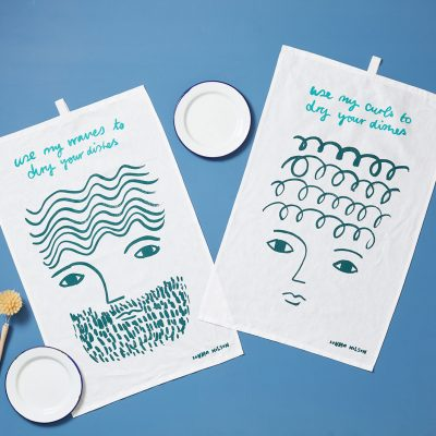 Use My Waves + Use My Curls Tea Towels - Donna Wilson