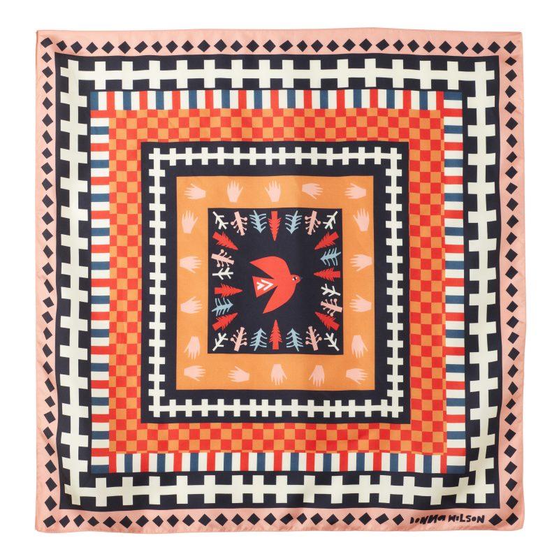 Donna Wilson - Flying Bird Silk Scarf - Red