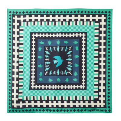 Donna Wilson - Flying Bird Silk Scarf - Green