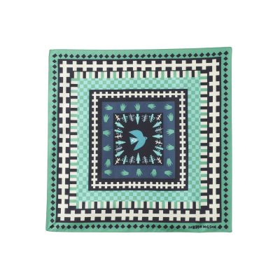 Donna Wilson - Flying Bird Silk Neckerchief - Green