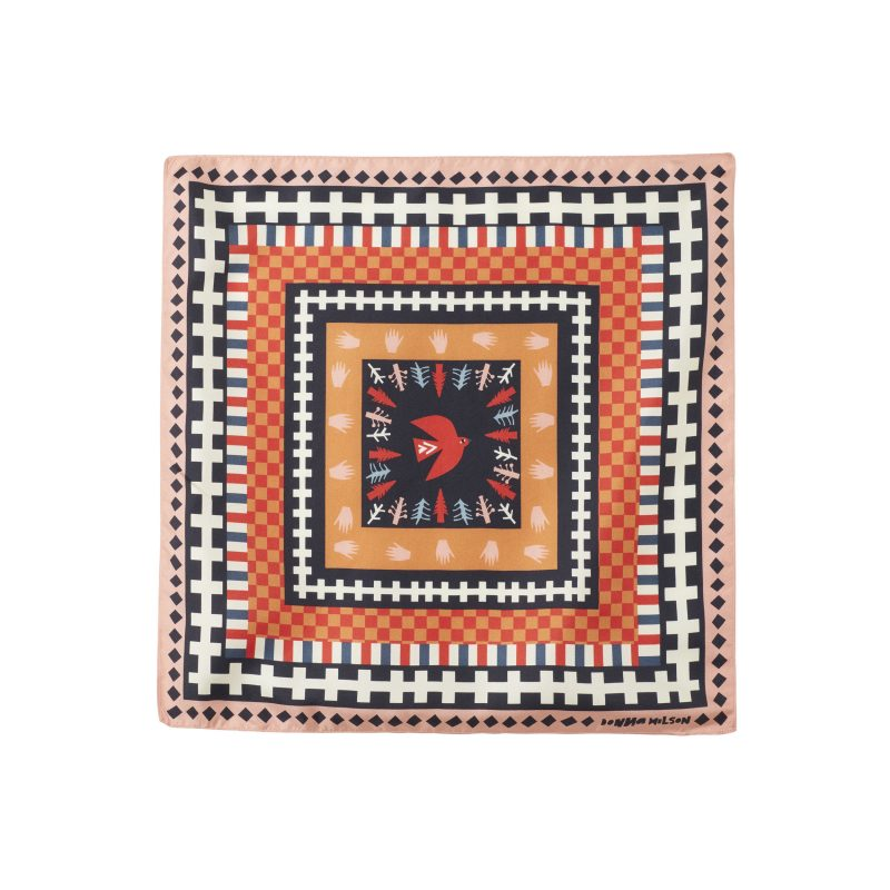 Donna Wilson - Flying Bird Silk Neckerchief - Red