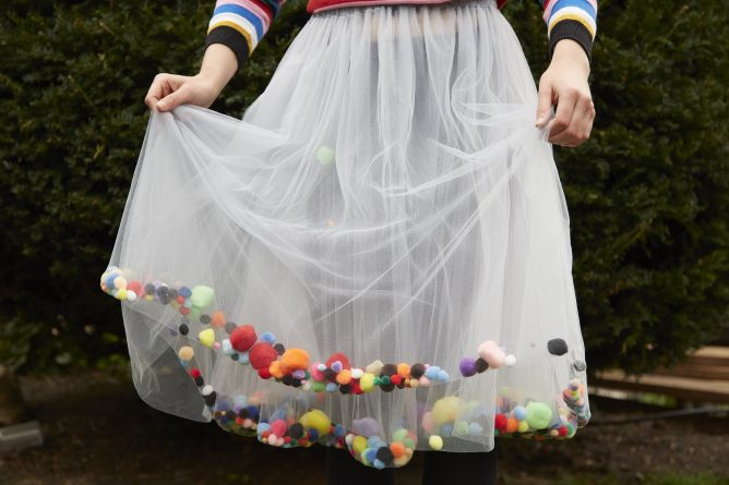 Make Your Own Pompom Skirt by Lora Heady