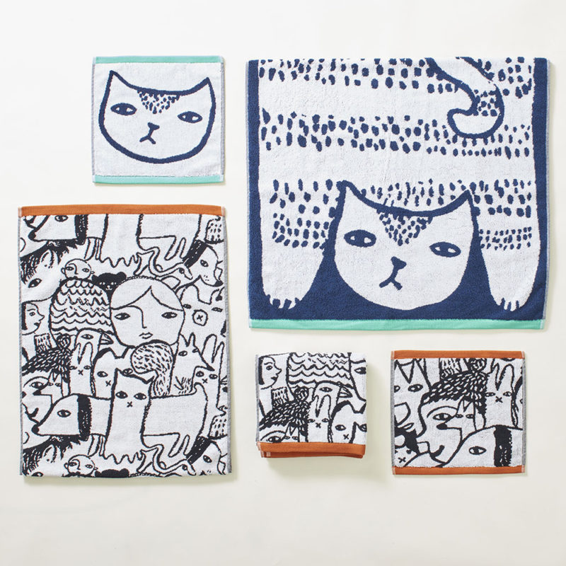 Cat & Folk Towels - Donna Wilson