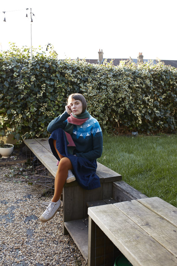 Donna Wilson AW20 - Mountain Peak Sweater - Blue