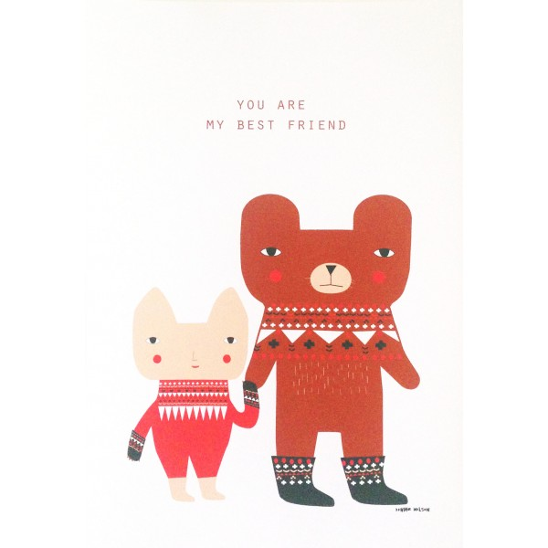 Donna Wilson - Bear Friends Art Print