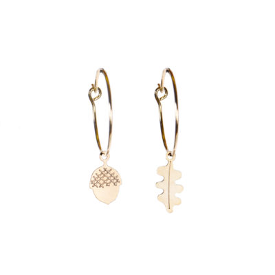 Acorn Hoop Earrings - TITLEE x DONNA WILSON