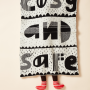 Donna Wilson Cosy and Safe Mini Blanket - Black