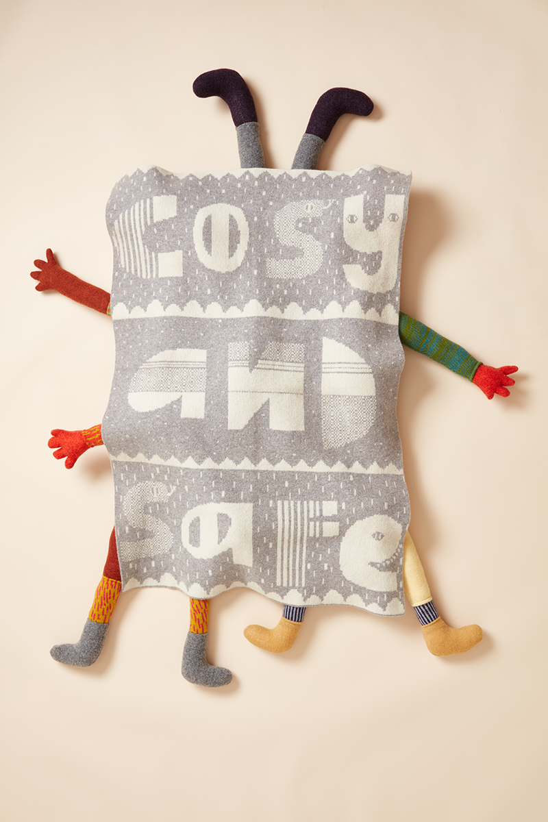 Donna Wilson Cosy and Safe Mini Blanket - Grey