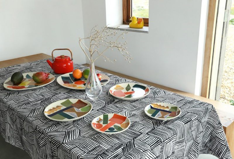 Lino Woven Throw + Ceramics - Donna Wilson