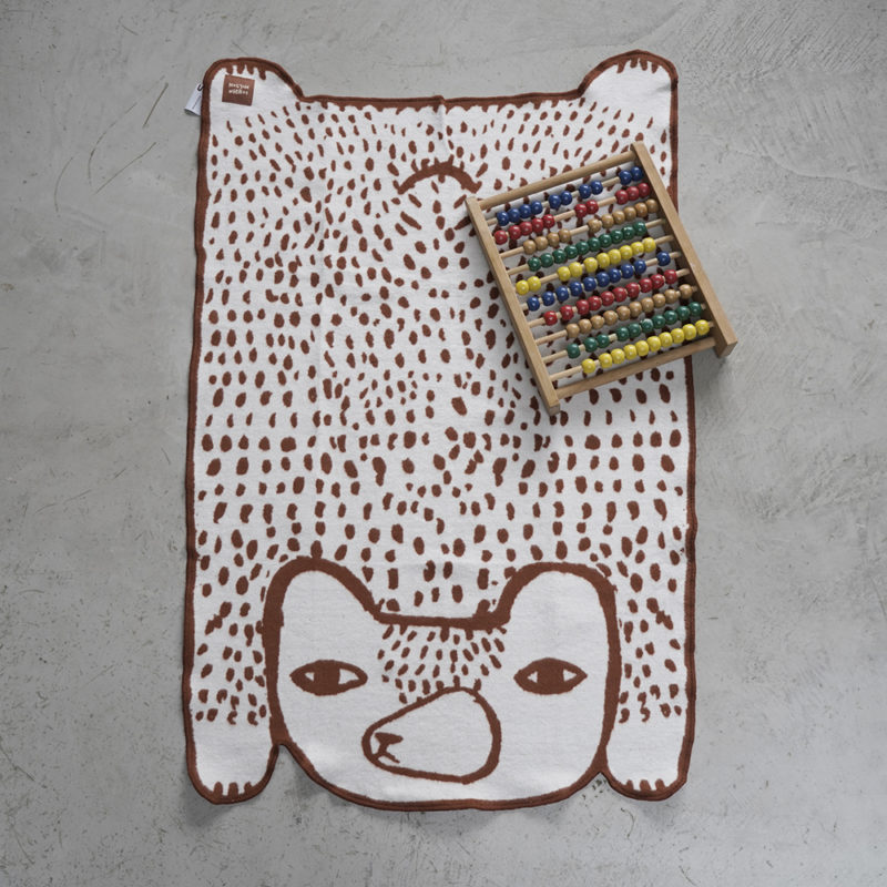 Bear Shaped Mini Blanket - Donna Wilson