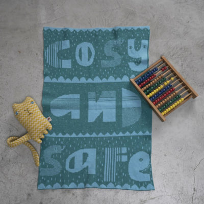 AW21 - Cosy & Safe Mini Blanket - Blue - Donna Wilson