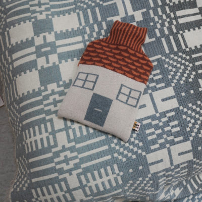 AW21 - Here Comes the Rain Throw & House Hot Water Bottle - Donna Wilson