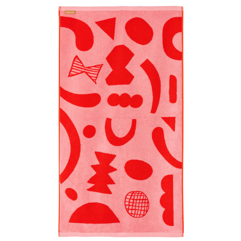 Abstract Shapes Bath Towel (Reverse) - Donna Wilson