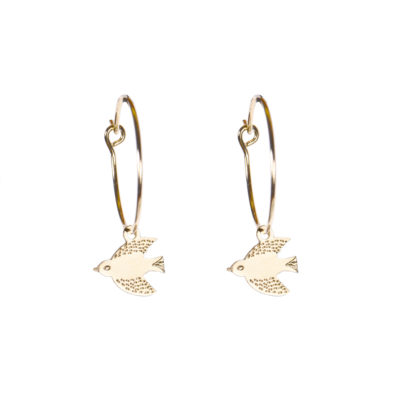 Bird Hoop Earrings - TITLEE x DONNA WILSON