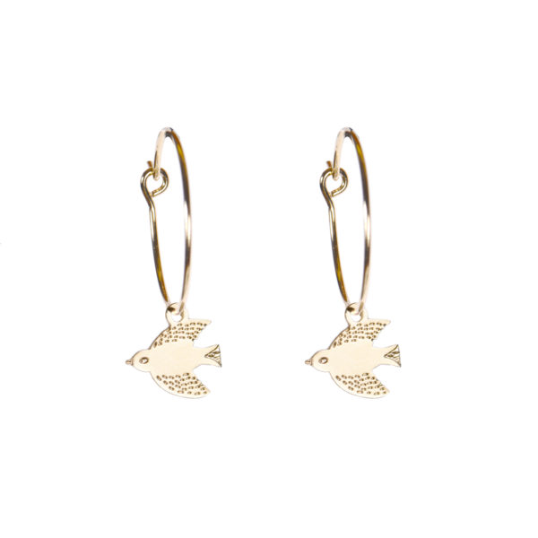 Bird Hoop Earrings - TITLEE x DONNA WILSON