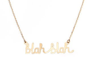 Blah Blah Necklace - TITLEE x DONNA WILSON