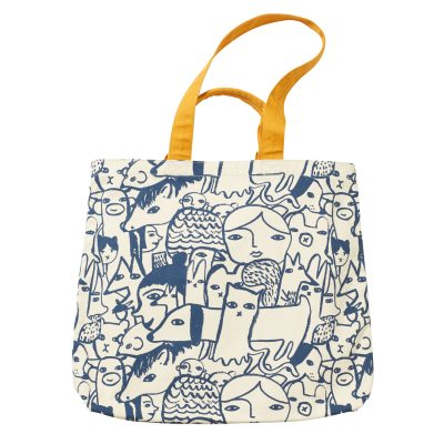 Folk Large Tote Bag - Donna Wilson
