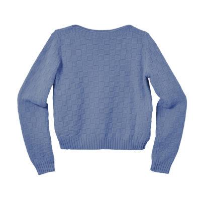 Basket Weave Sweater - Deep Indigo - Donna Wilson