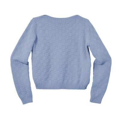 Basket Weave Sweater - Pale Indigo - Donna Wilson