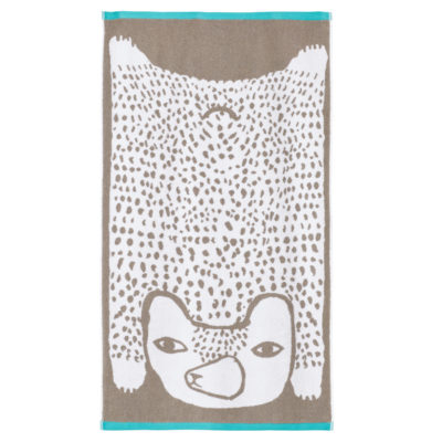 Bear Bath Towel - Grey - Donna Wilson