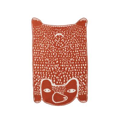 Bear Cotton Mini Blanket - Reverse - Donna Wilson