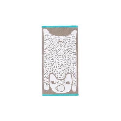 Bear Hand Towel - Grey - Donna Wilson
