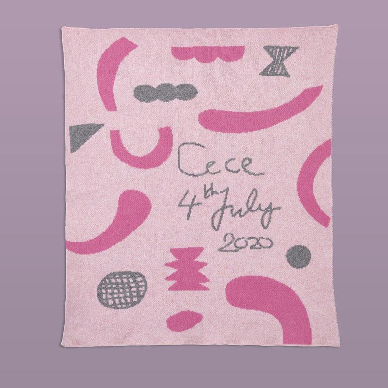 Bespoke Confetti Baby Blanket - Donna Wilson - Purple