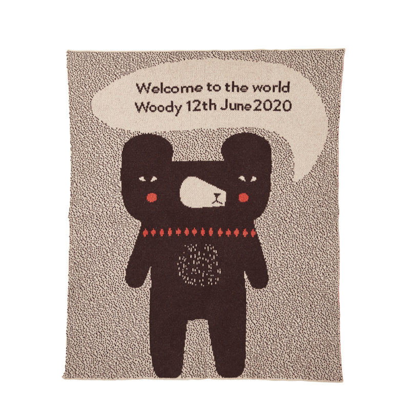 Bespoke Welcome Baby Blanket - Donna Wilson