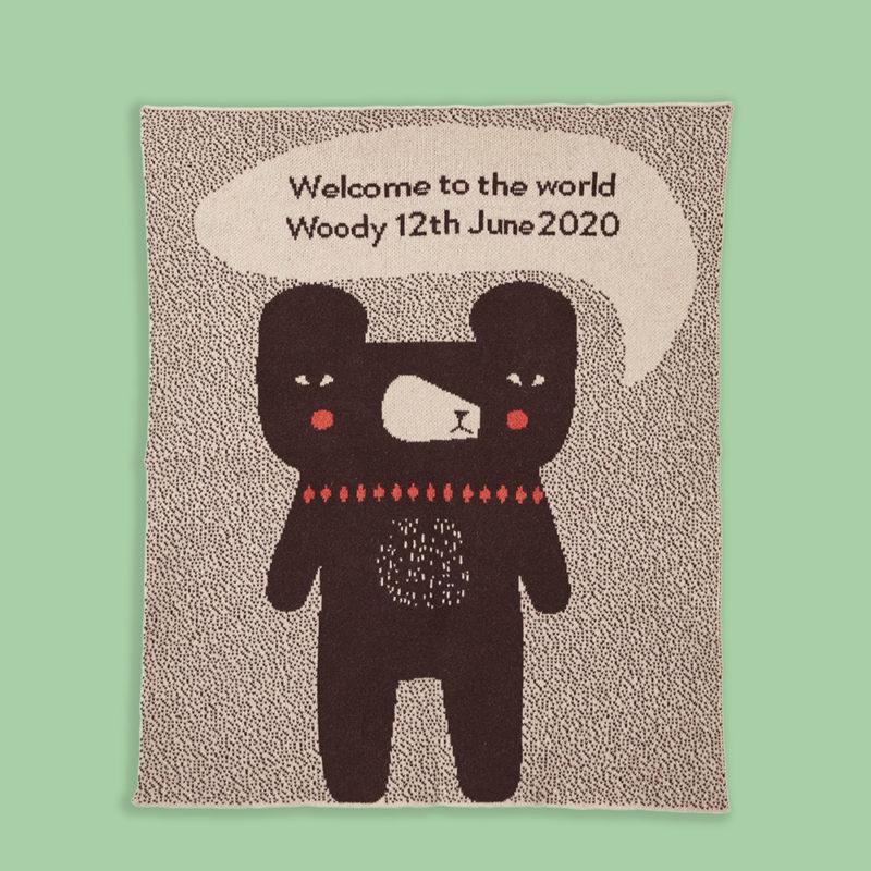 Bespoke Welcome Baby Blanket - Donna Wilson - Green