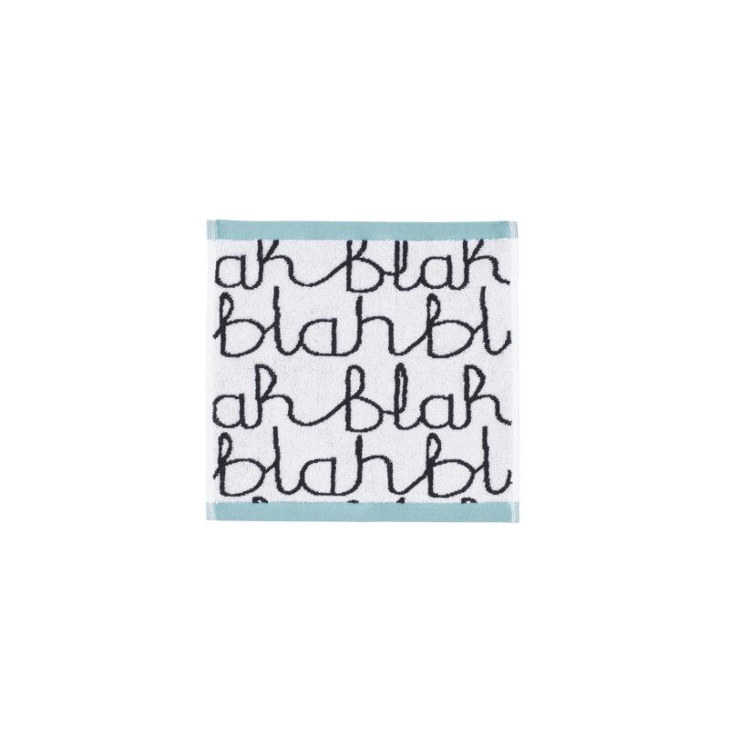 Blah Blah Face Cloth - Light Blue - Donna Wilson