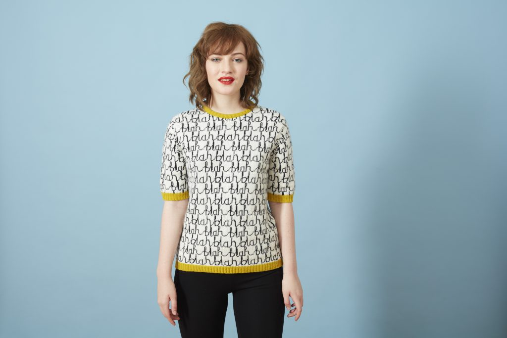 Blah Blah Sweater Model Donna Wilson
