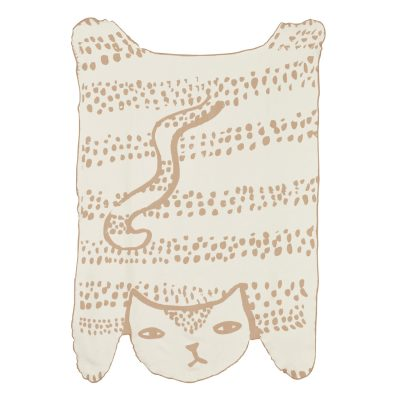 Cat Shaped Cotton Throw - Donna Wilson
