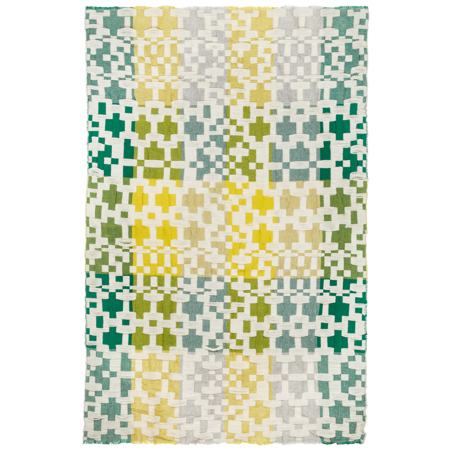 Donna Wilson Pennan Throw Yellow Green