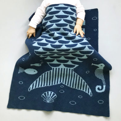 Mermaid Mini Blanket - Donna Wilson